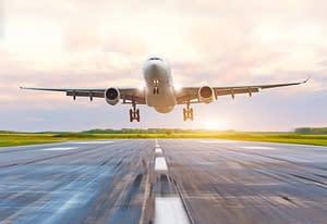 Avion prêt au décollage